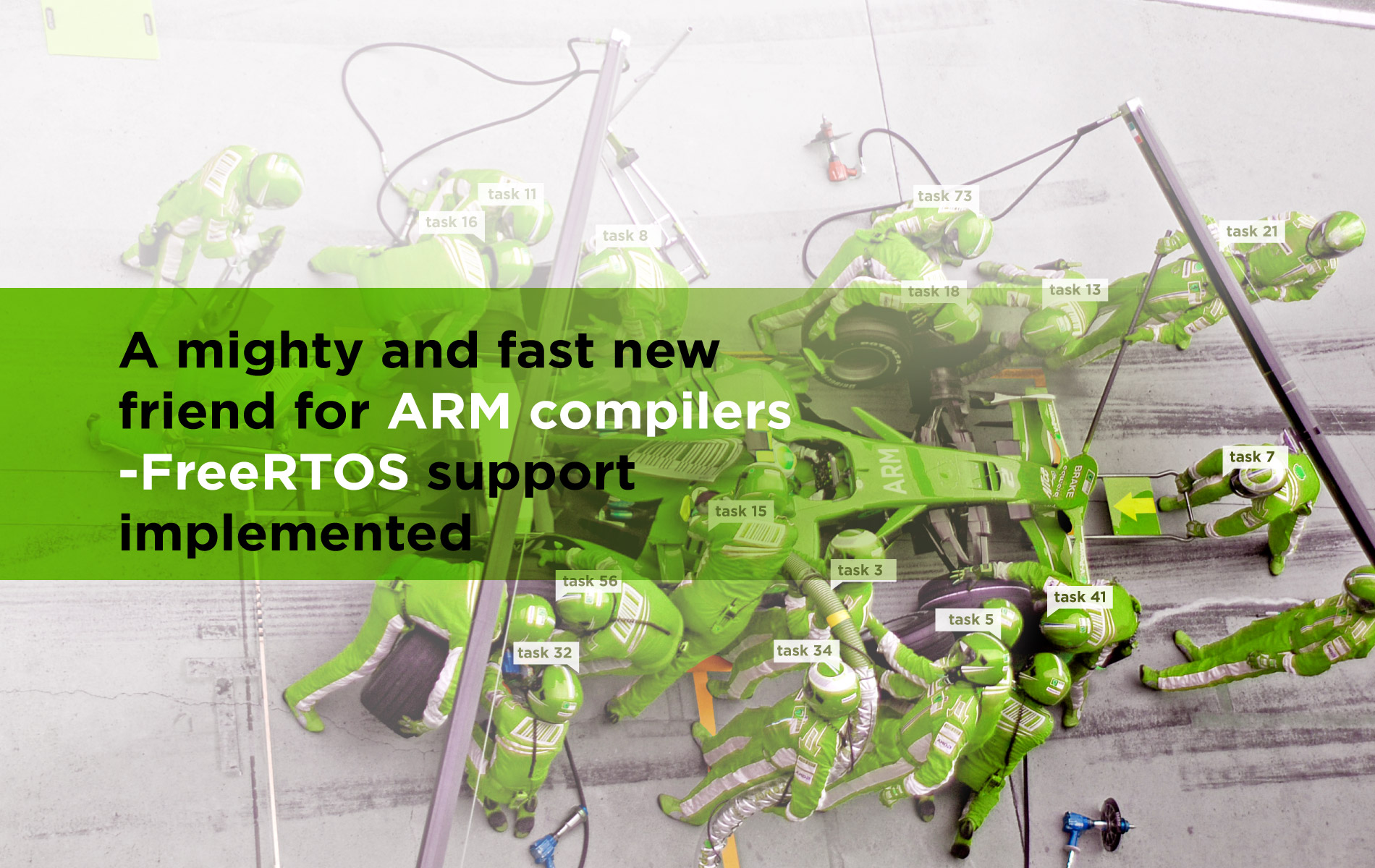 Your wish is our command - ARM compilers now with FreeRTOS support