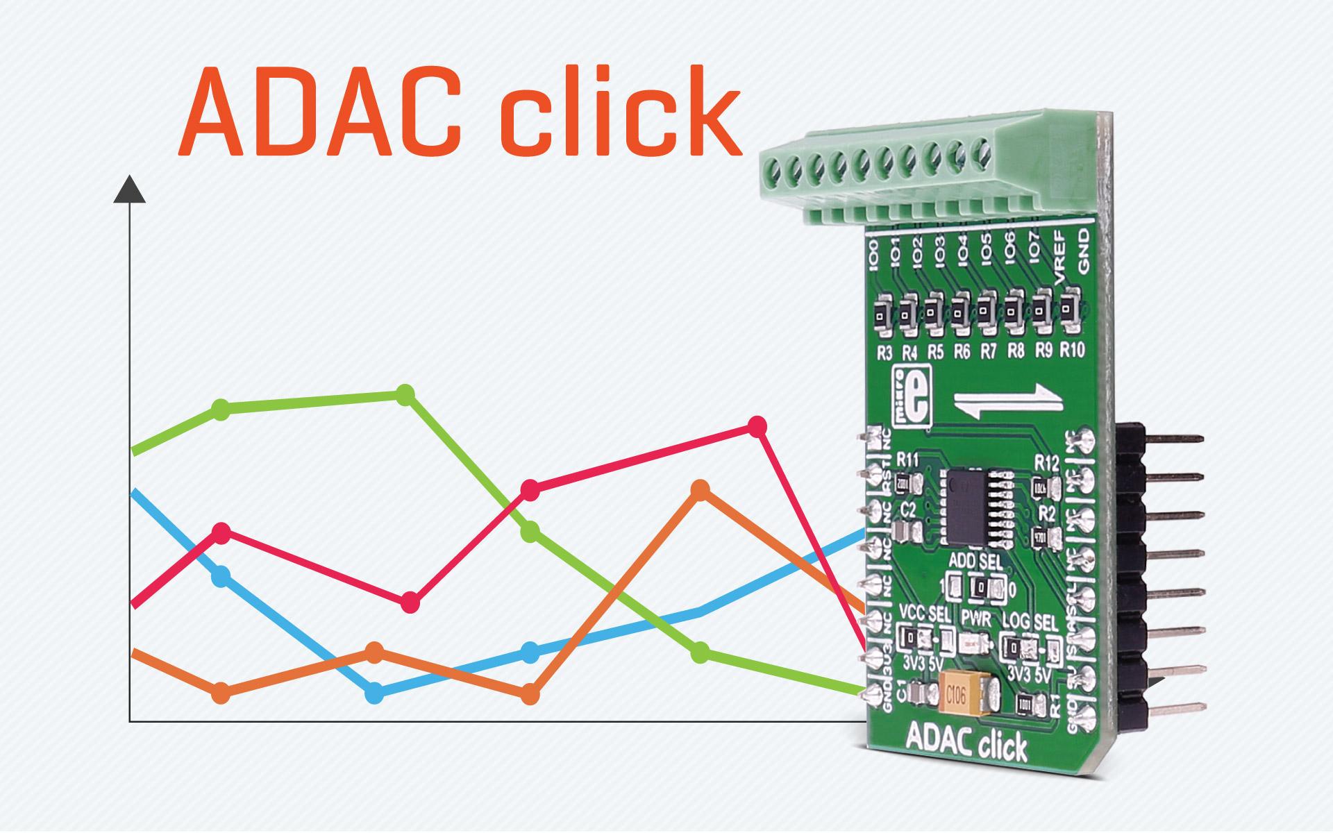 ADAC click - 12-bit ADC and DAC converter