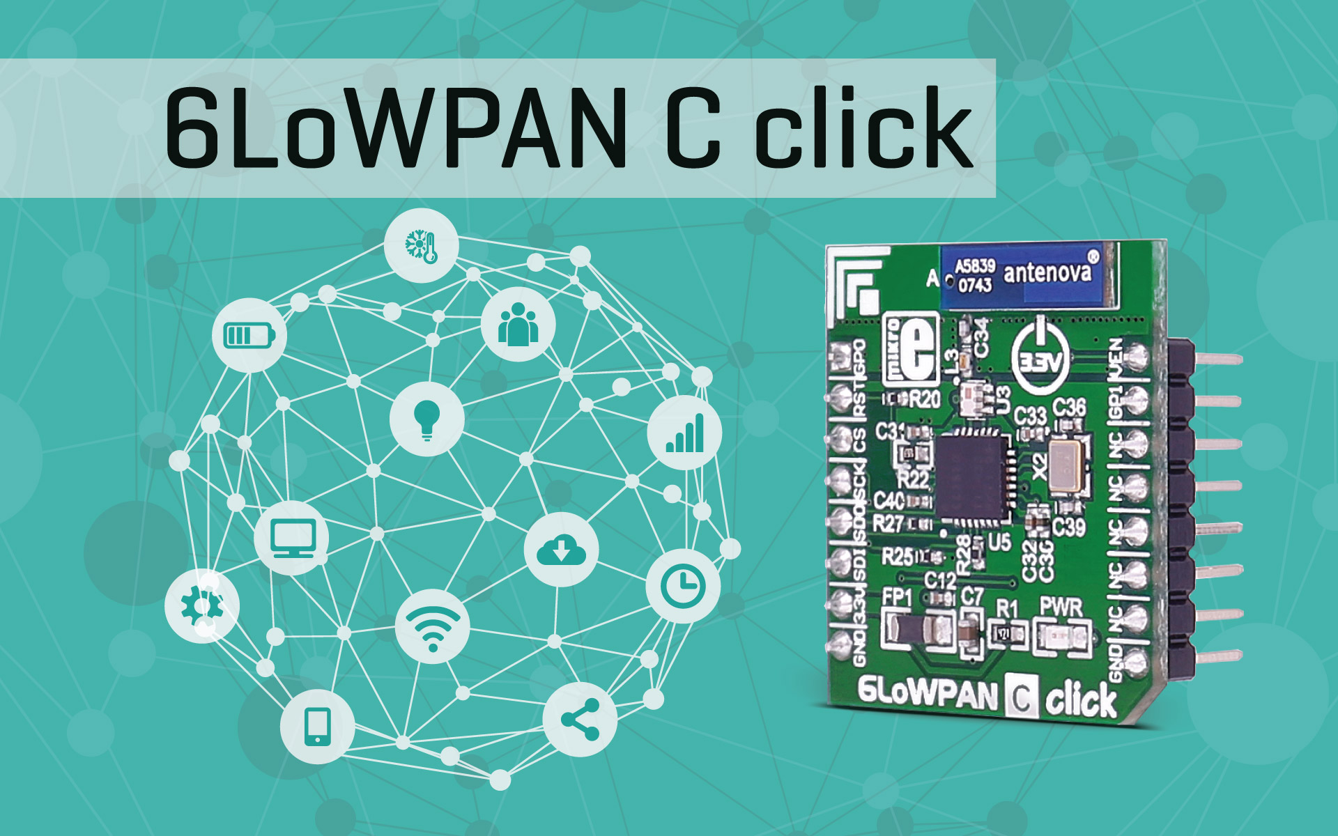 6LoWPAN C click - 2.4GHz transceiver