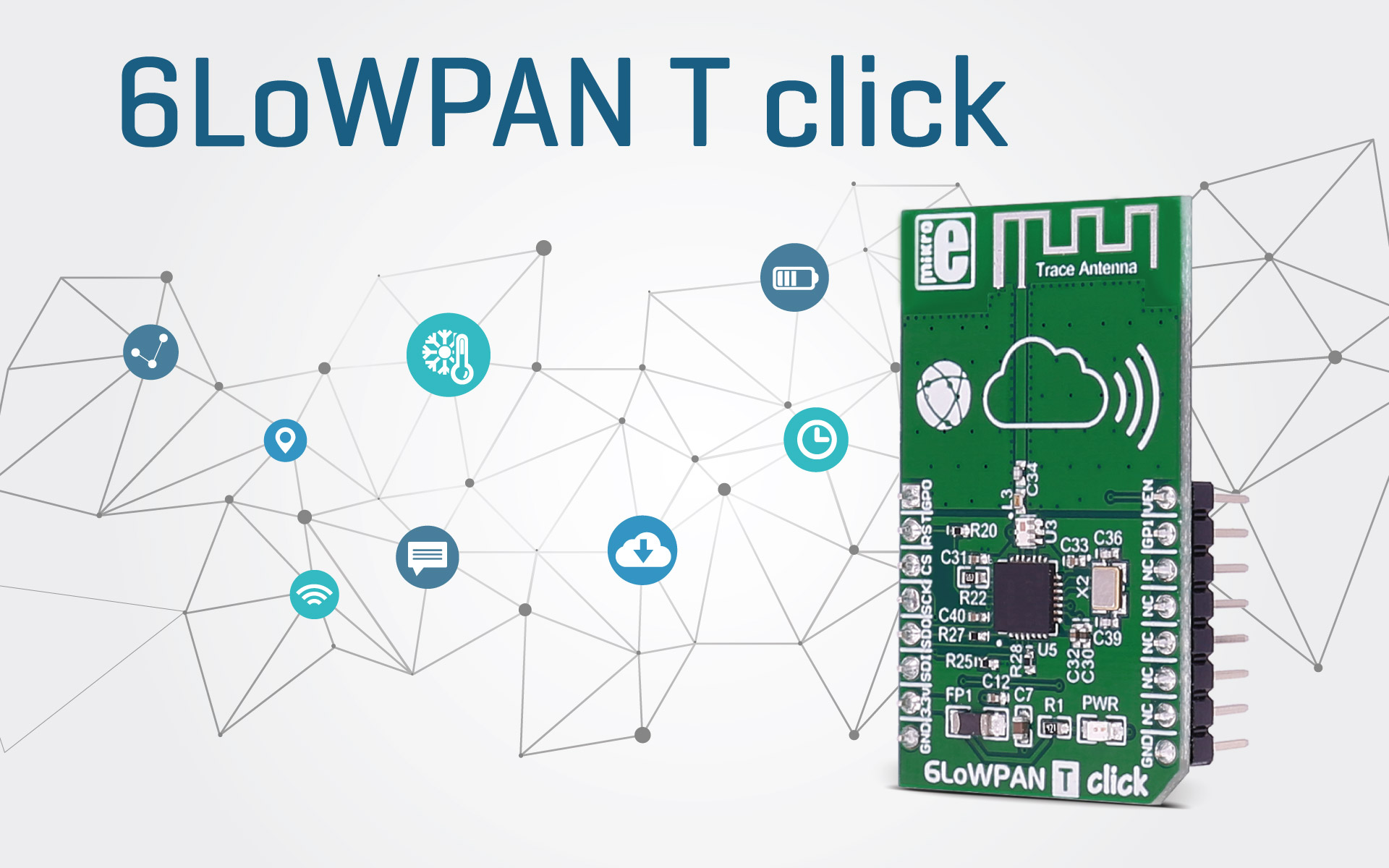 6LoWPAN T click - RF transceiver with low power consumption