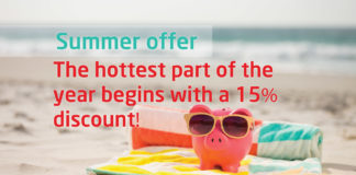 15% OFF summer offer news banner