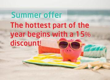 15% OFF summer offer news banner