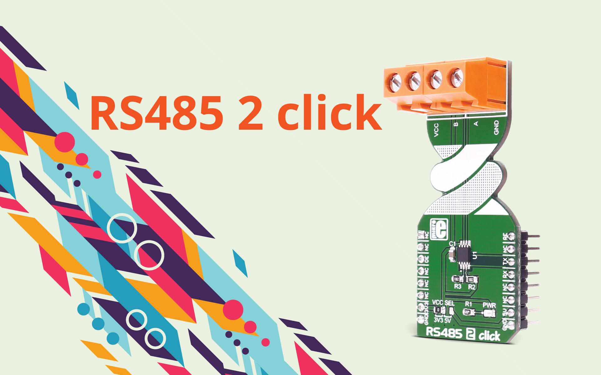RS485 2 click - an RS485 half duplex transceiver