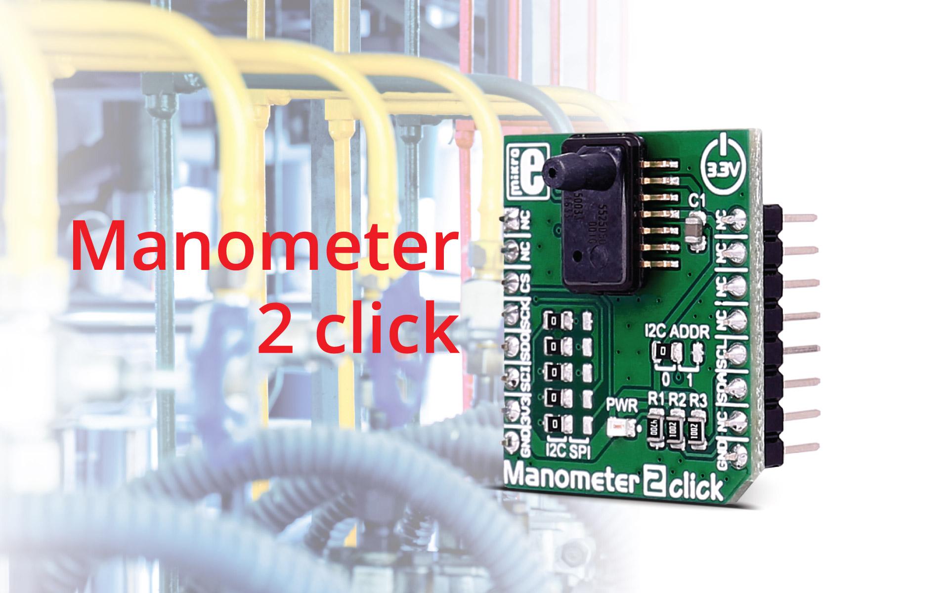 Manometer 2 click - super small pressure sensor