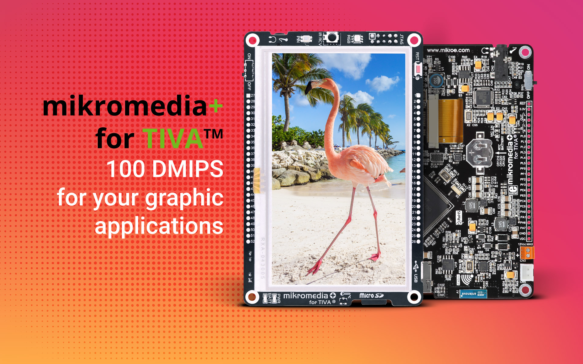 mikromedia Plus for TIVA - feature rich 4.3'' board