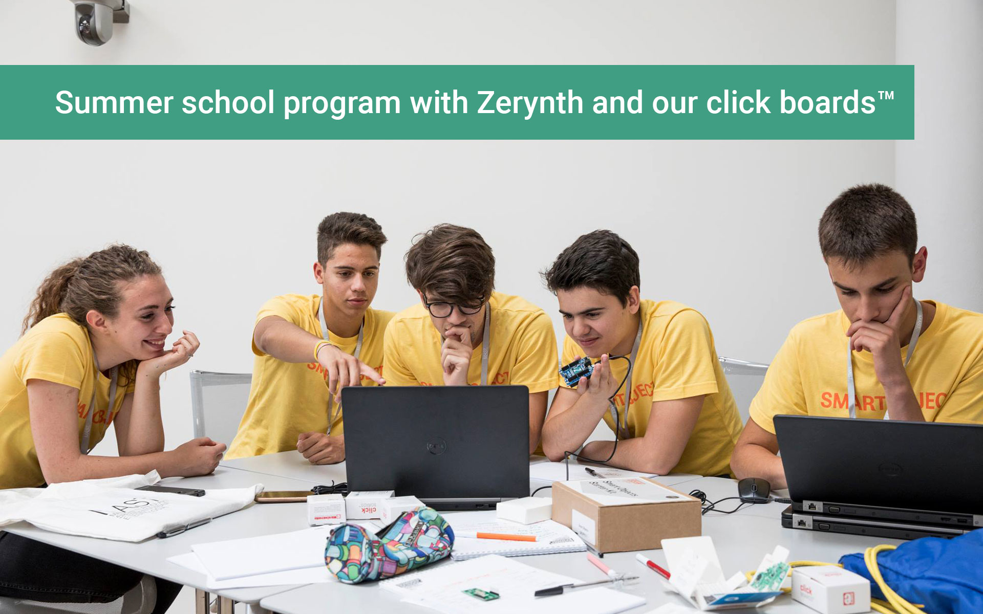 Click boards™ join a summer school in Italy