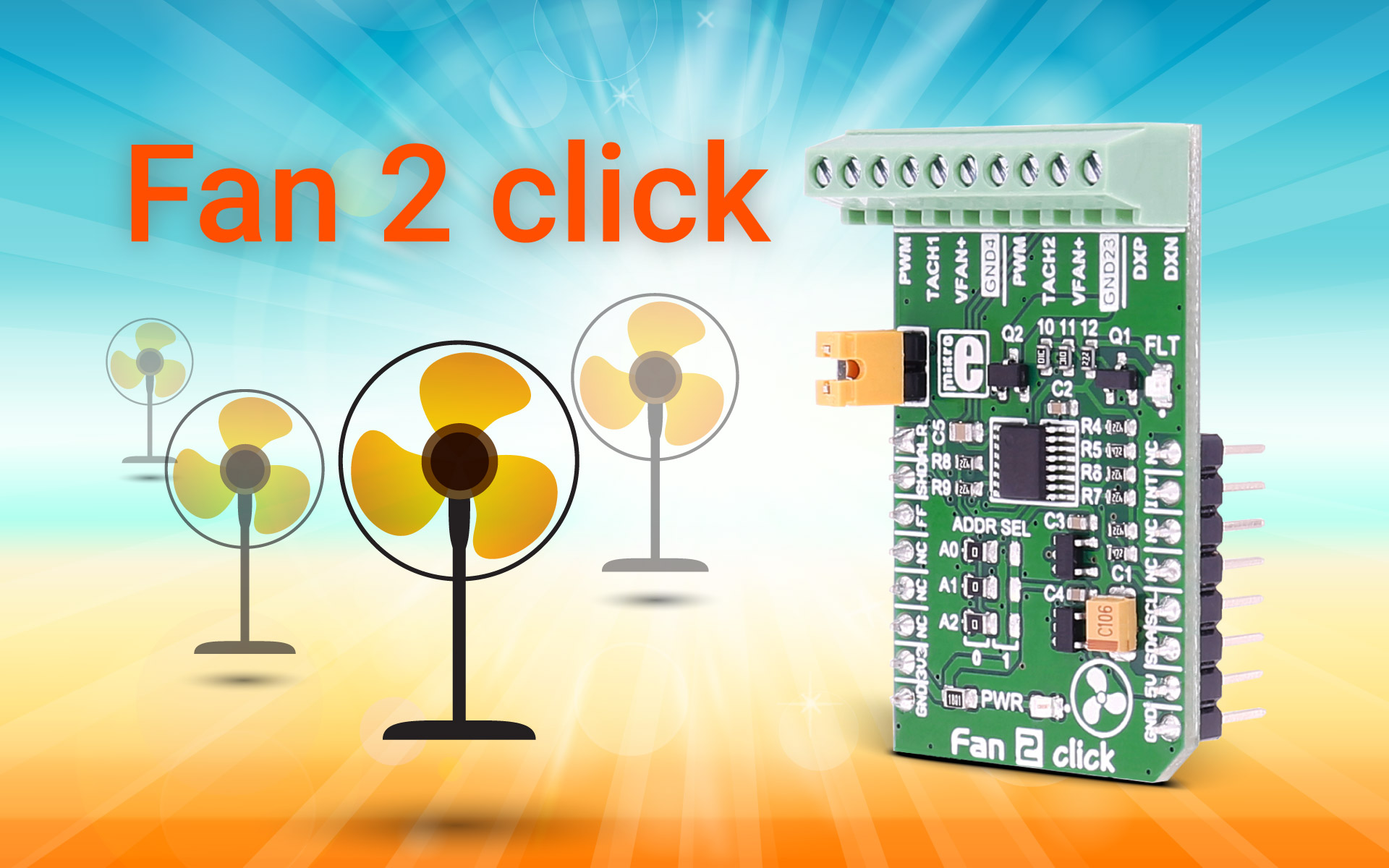 Fan 2 click – cool down with our newest click