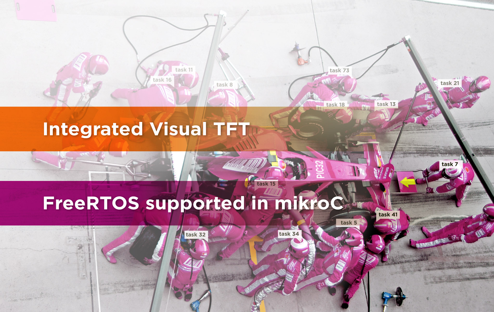 PIC32 compilers - Visual TFT integrated, FreeRTOS support