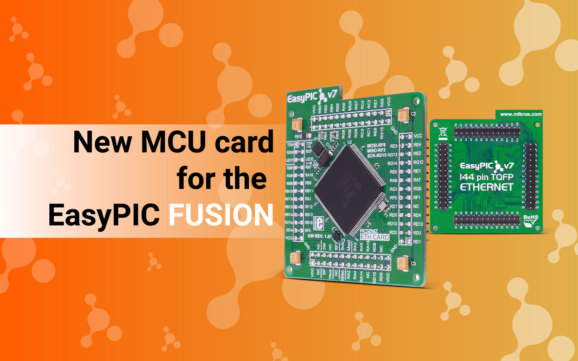 New MCU card for the EasyPIC Fusion board