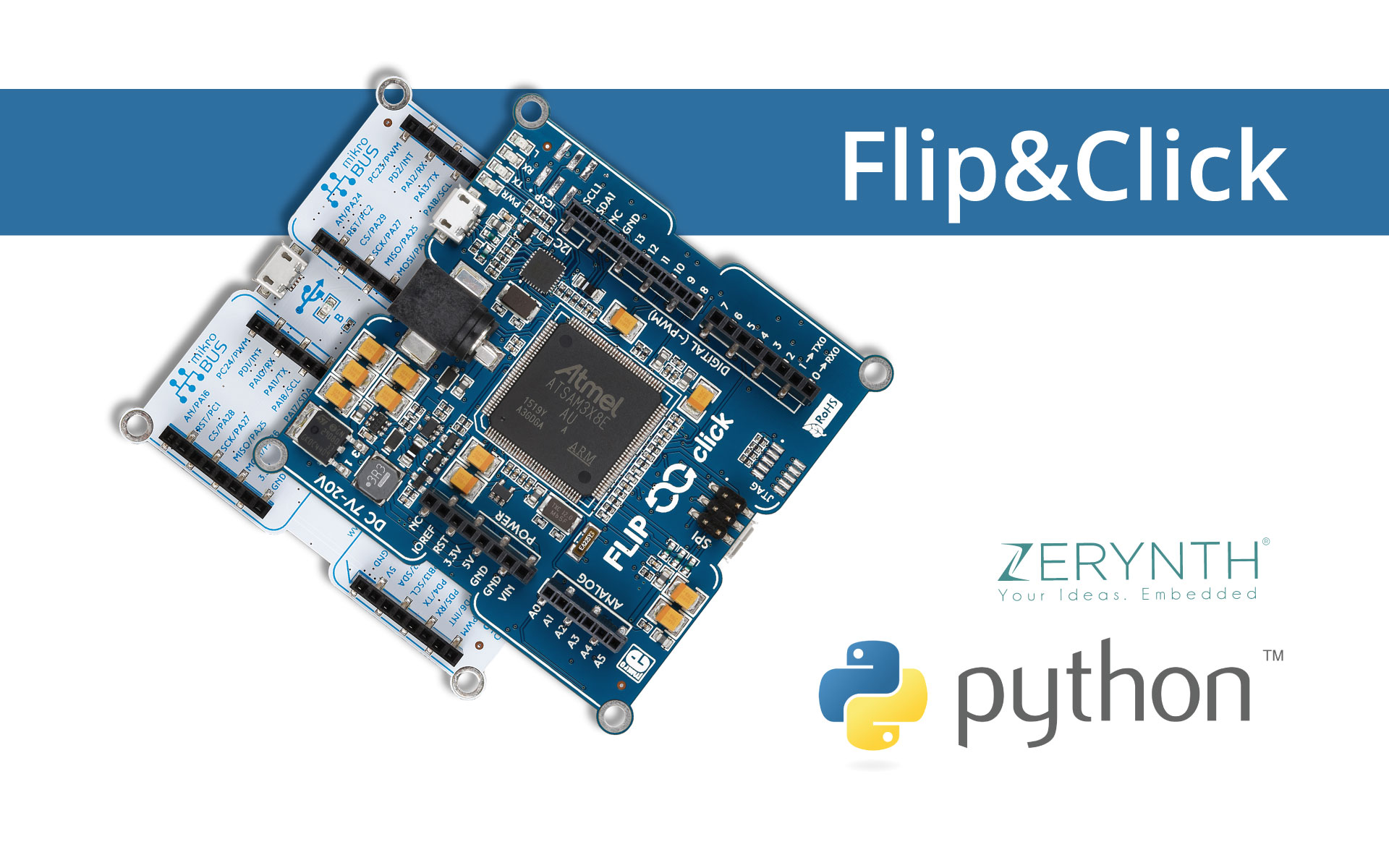 Flip&Click and Python to control servo motors for IoT projects