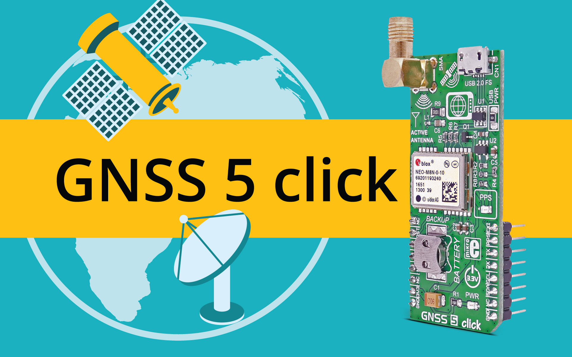 GNSS 5 click - determine your position