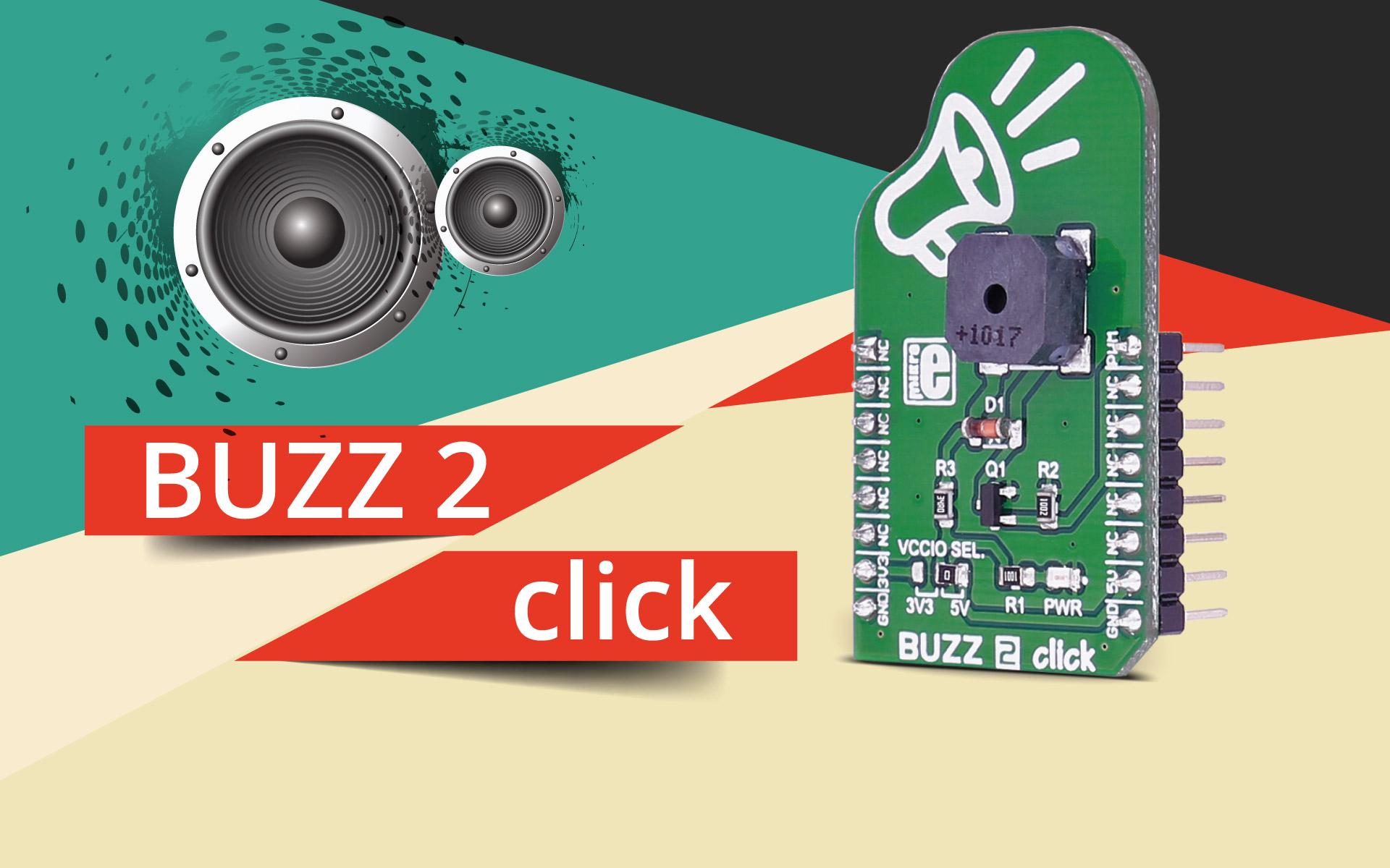 BUZZ 2 click - magnetic buzzer transducer