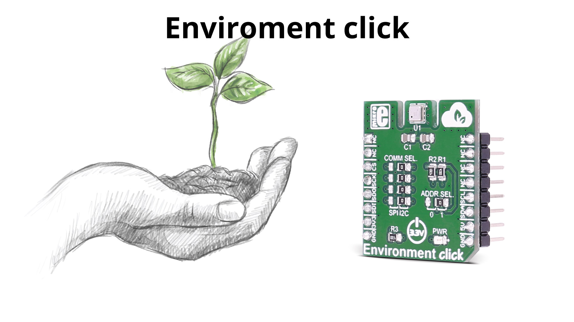Environment click - air quality, temperature, relative humidity, and pressure