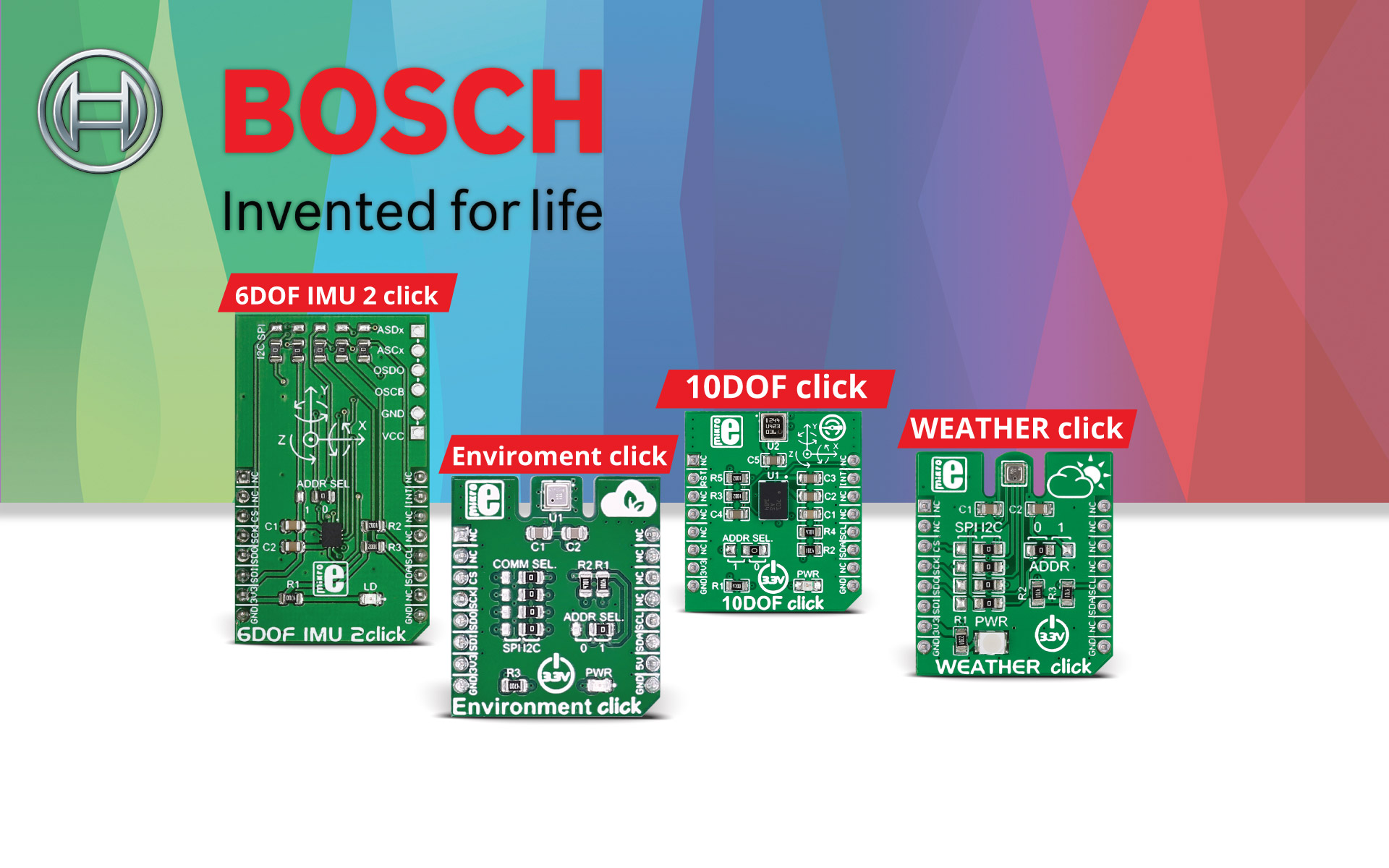 click boards™ with Bosch - partnership in innovation