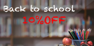 back to school offer 10% off on everything