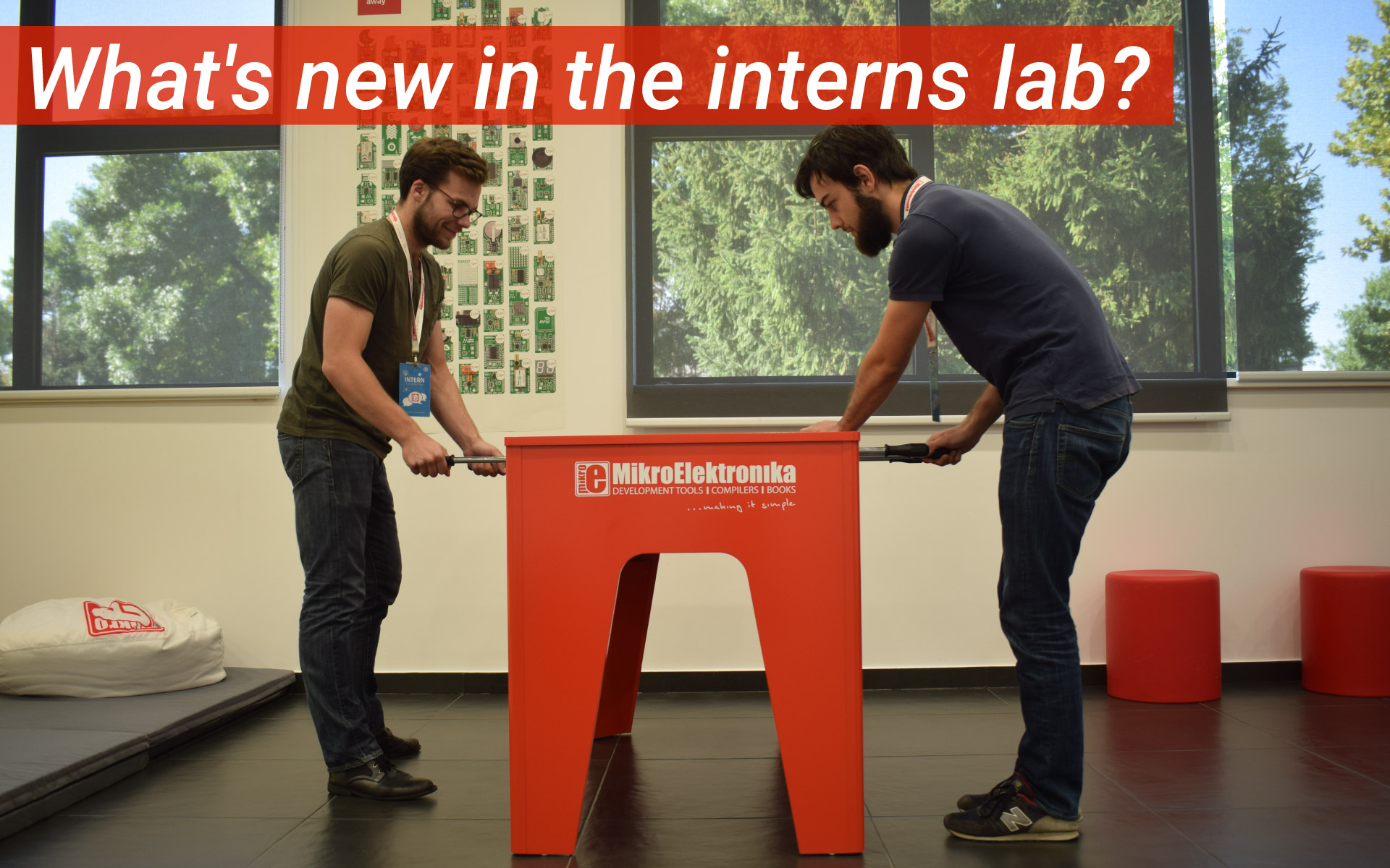 Interns lab: click board™ projects and a summer party