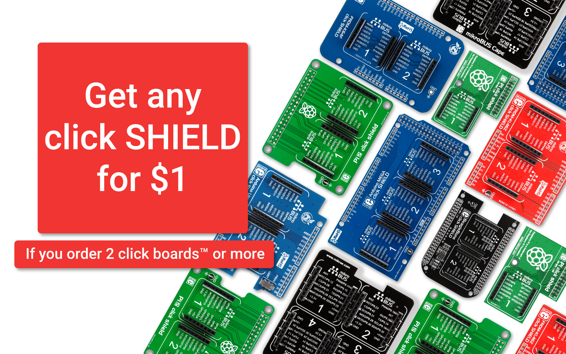 Special offer - get a click shield for only $1