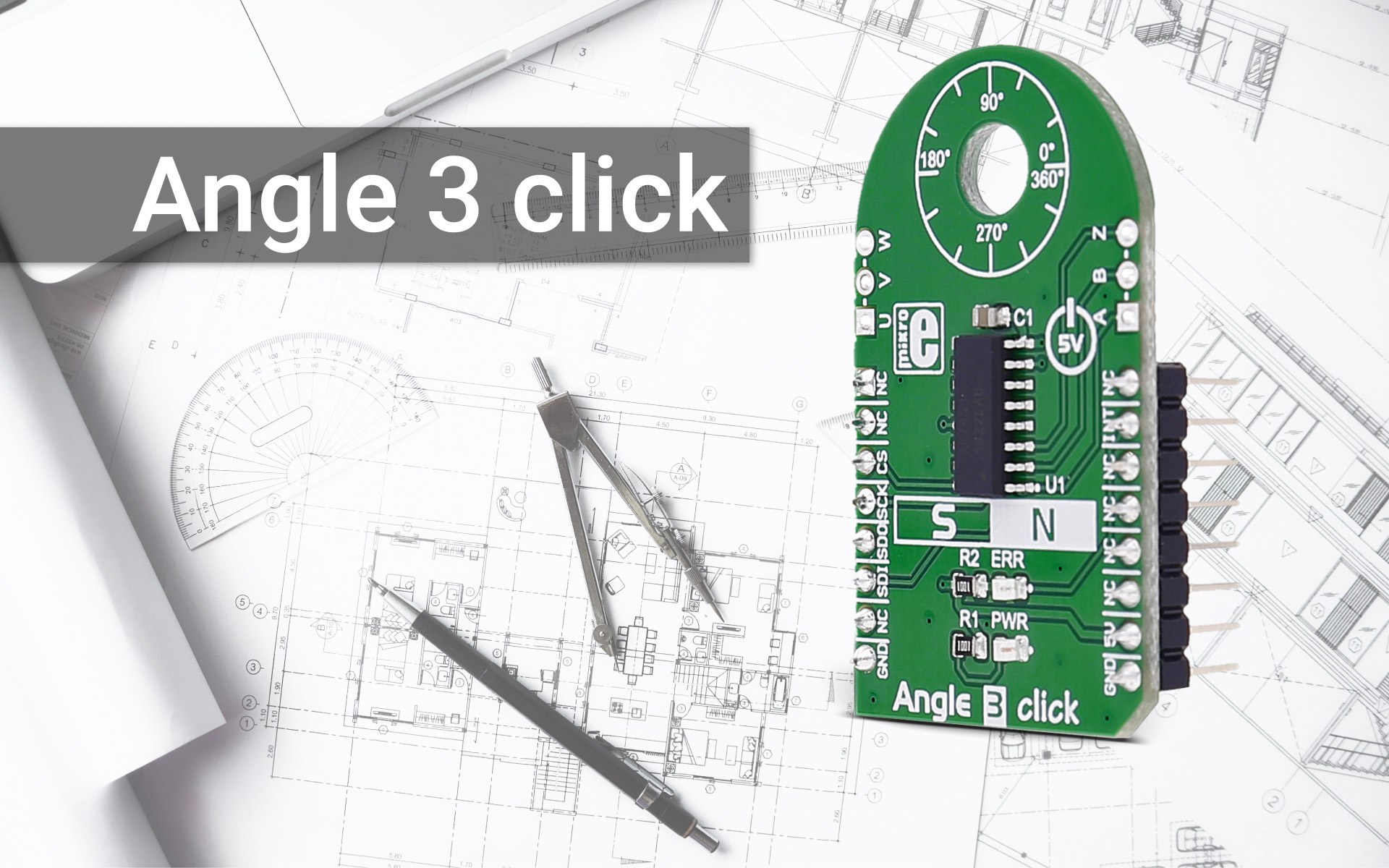 Angle 3 click - 12-bit resolution angle sensor