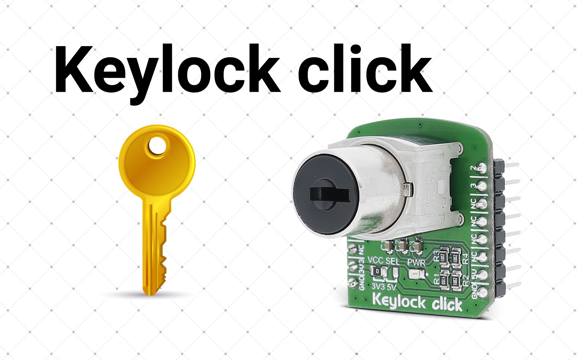 Keylock click - old fashioned security on a click board™