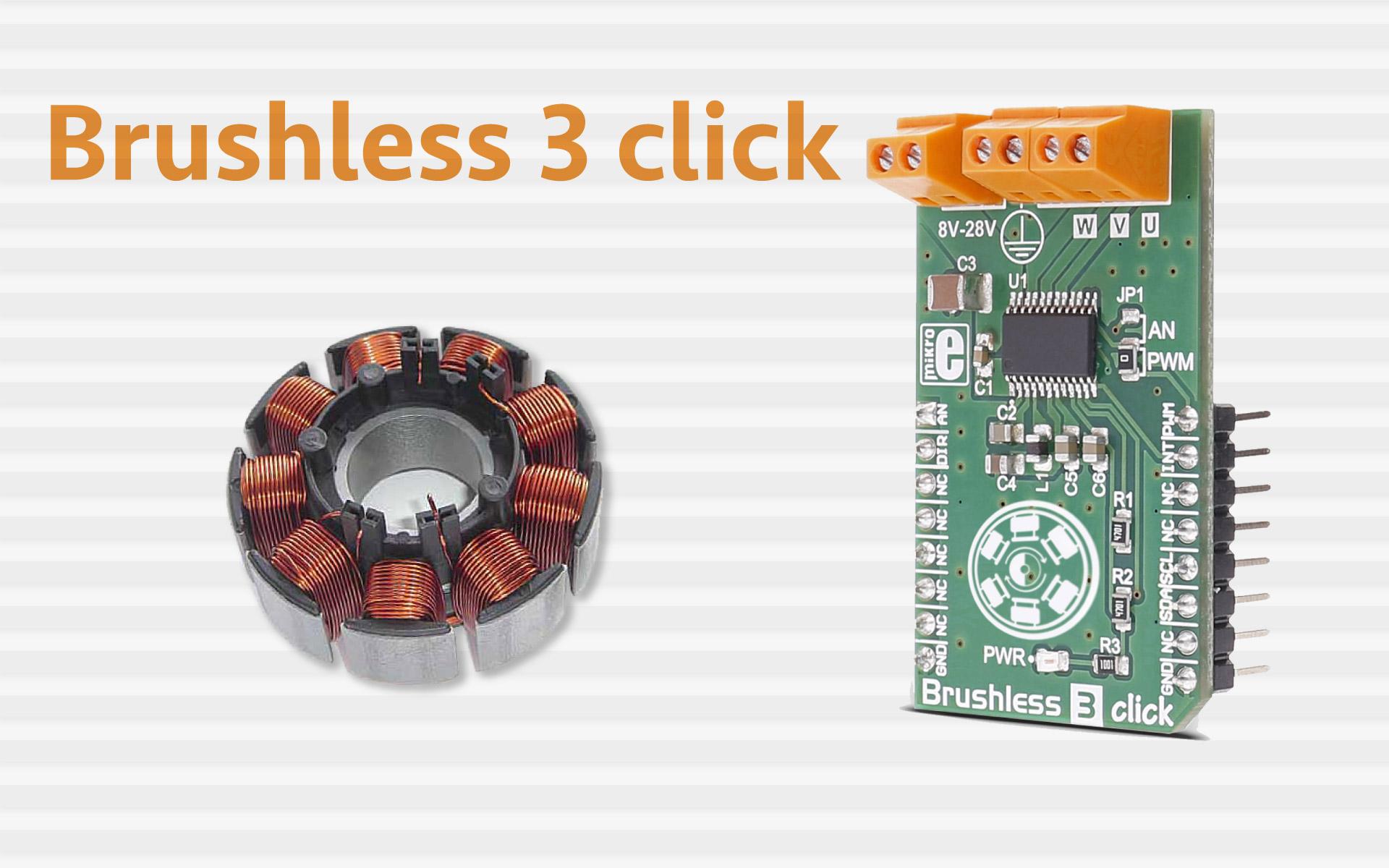 Brushless 3 Click A Three Phase Sensorless Motor Driver