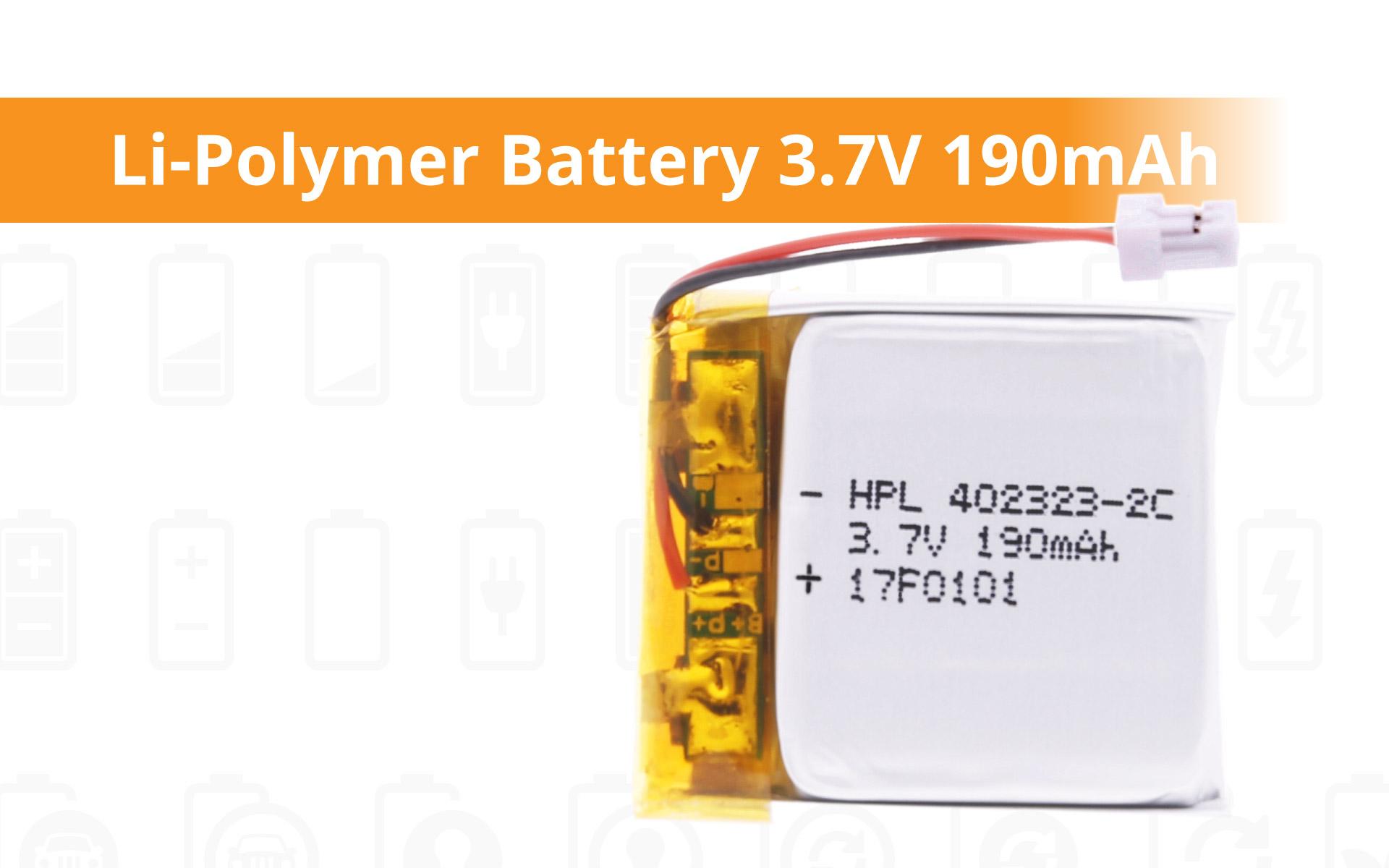 Li-Polymer Battery 3.7V 190mAh - power your device