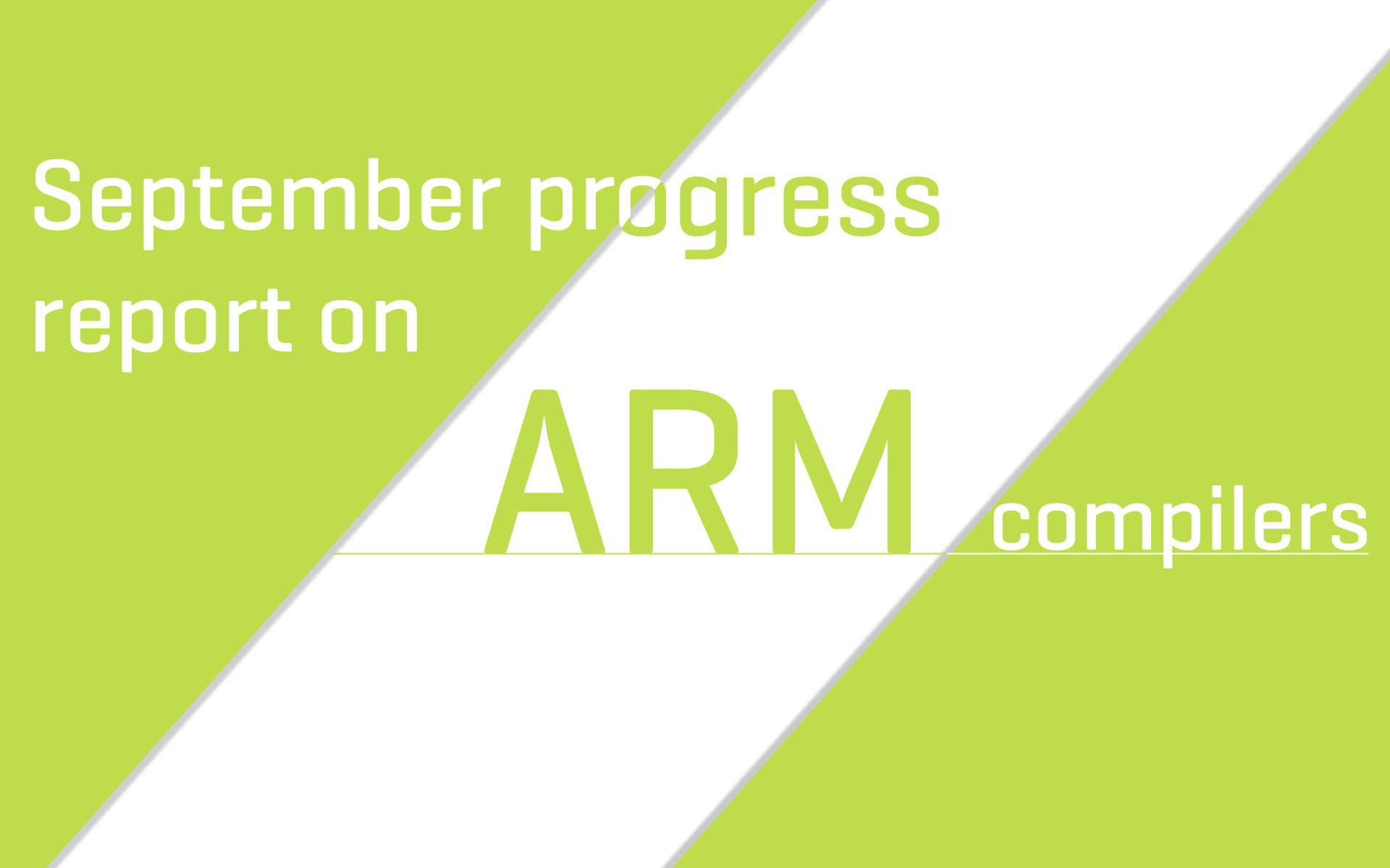 ARM Compilers Roadmap update