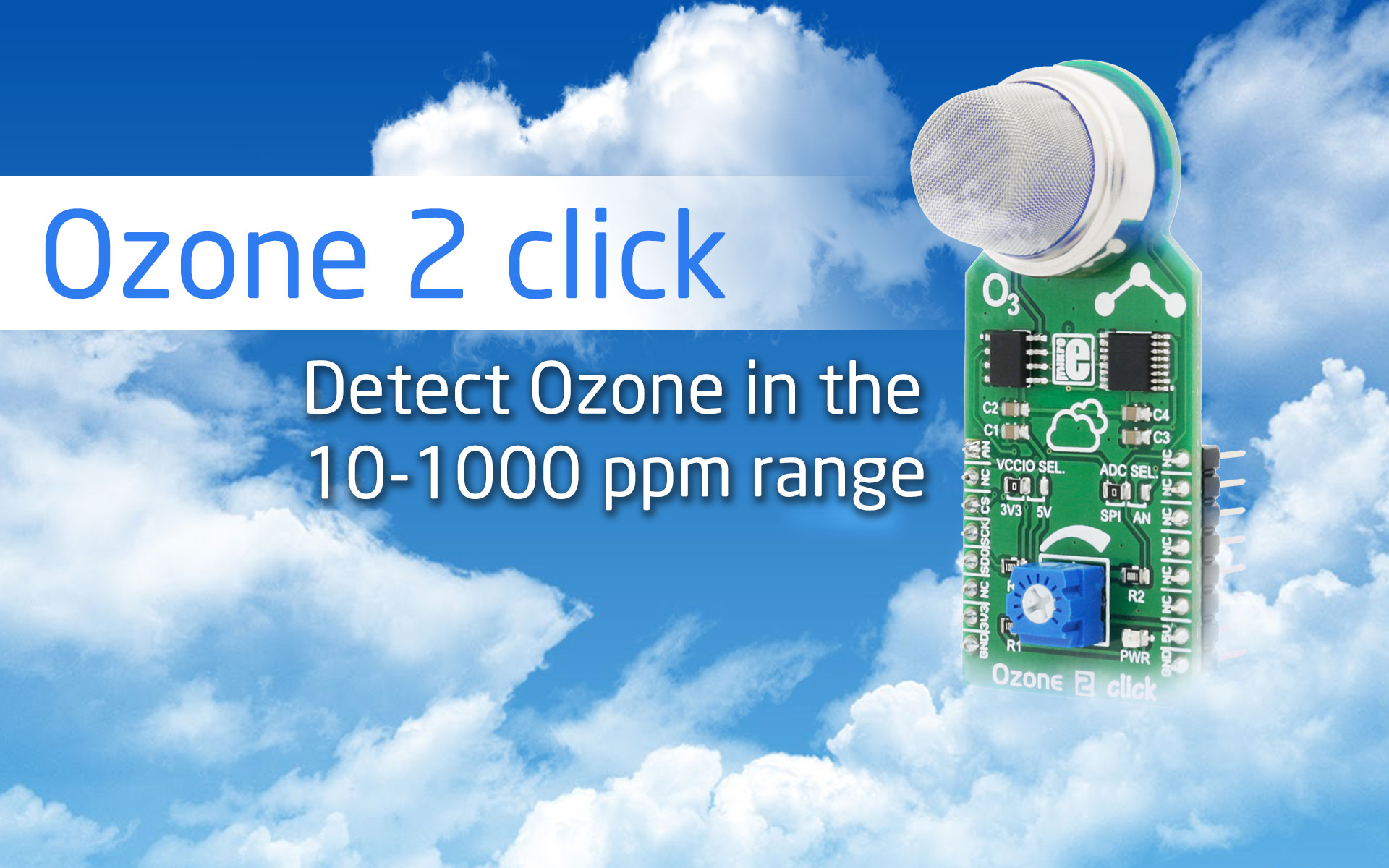 Detect Ozone with our new Ozone 2 click
