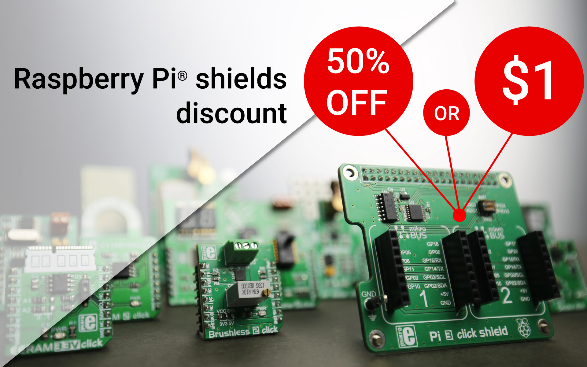 Open up your possibilities with click boards™ - Raspberry Pi® shields offer
