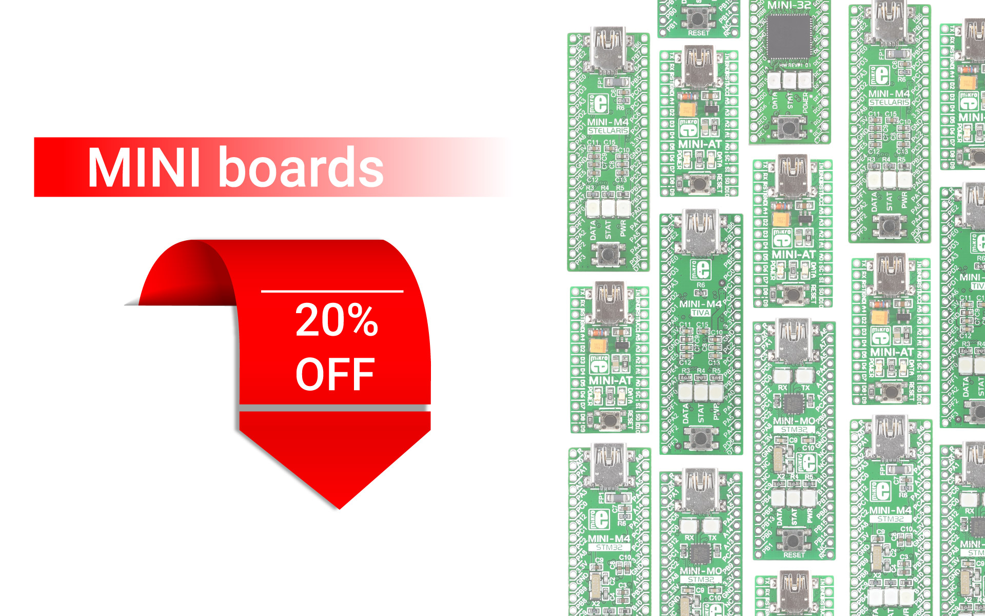 20% OFF on the MINI boards!