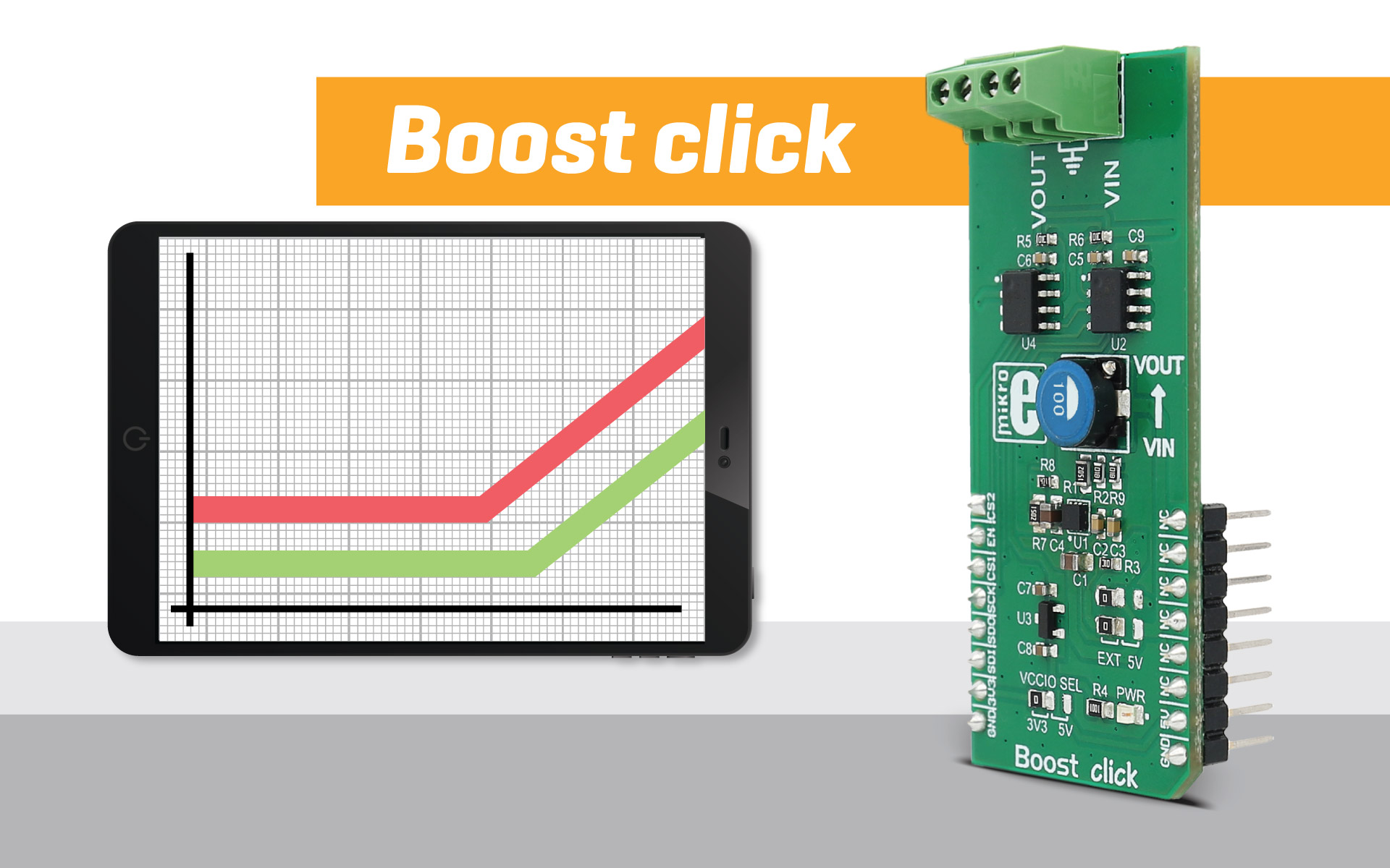 Boost click - step up the voltage