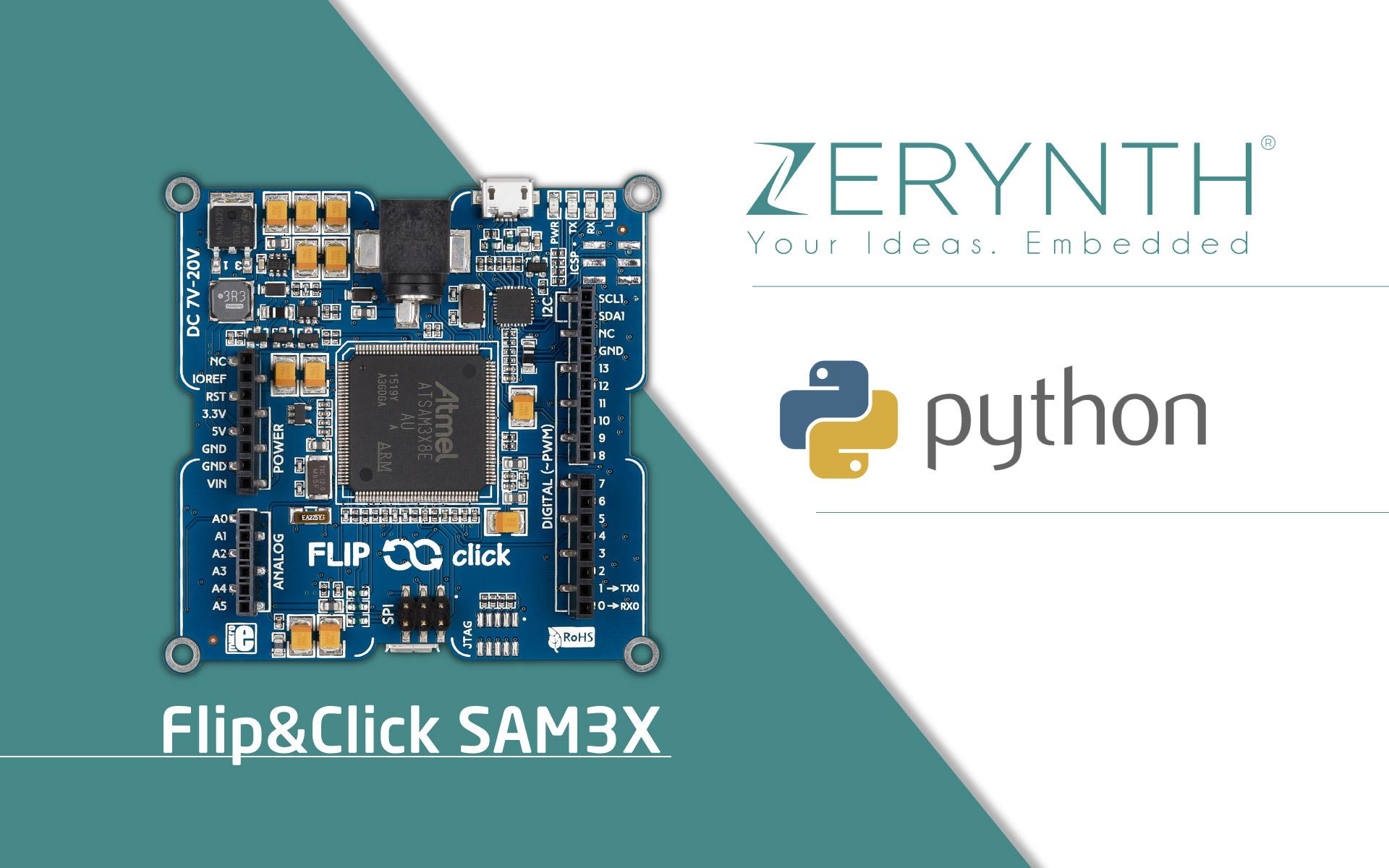 Using Flip&Click SAM3X with Zerynth Studio - video tutorial