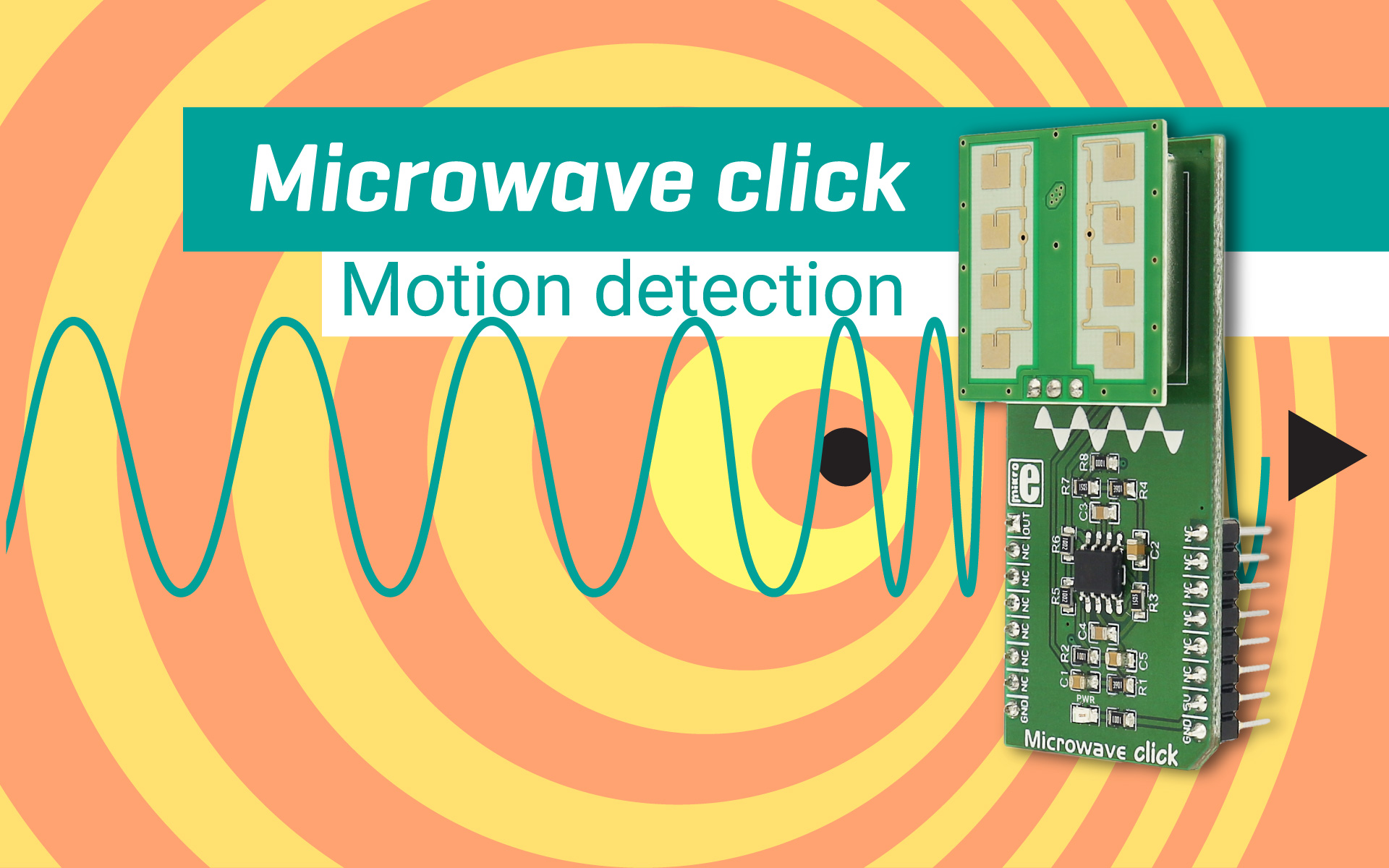 Microwave click - detecting movement