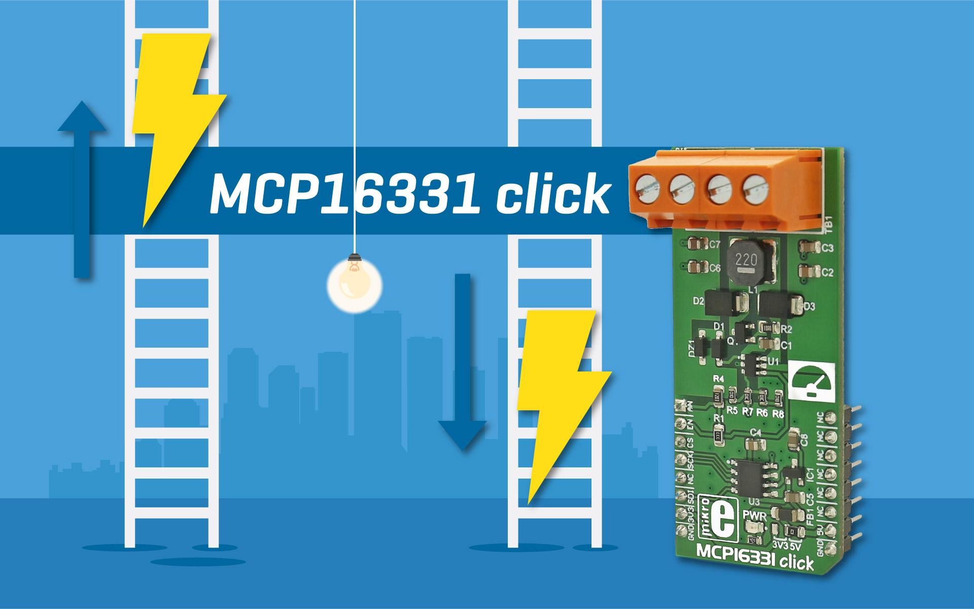 MCP16331 click - buck-boost voltage regulator
