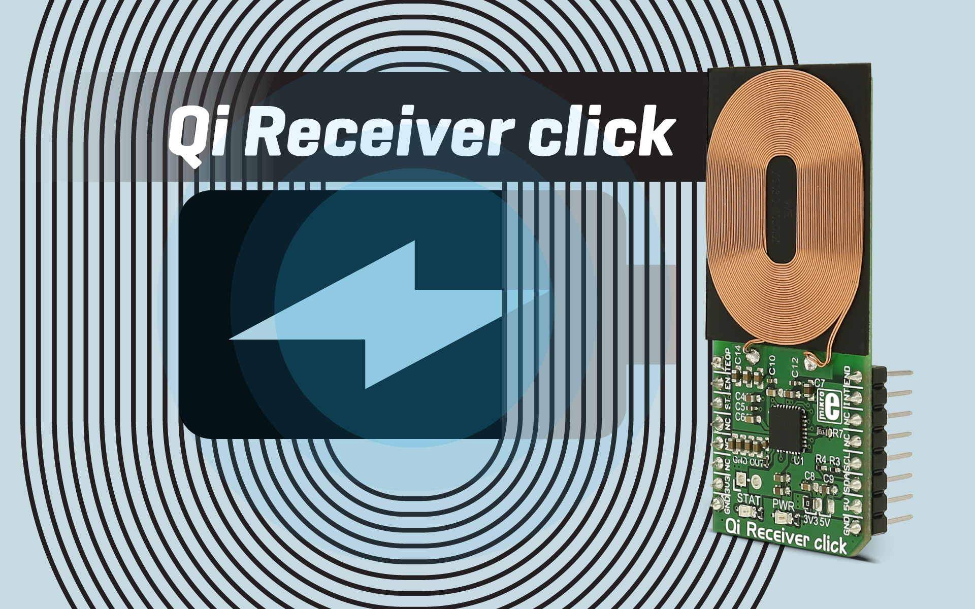 Qi Receiver click - Let the Qi force be with you!