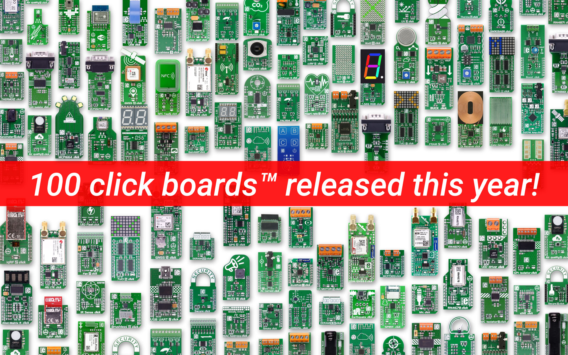 100 click boards™ released this year!
