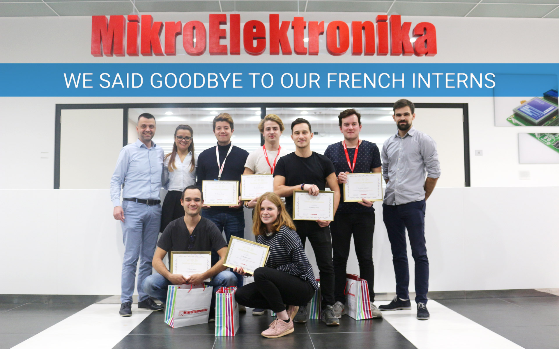 We said goodbye to our French interns