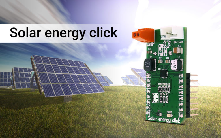 Solar energy click – harvesting the energy of the Sun