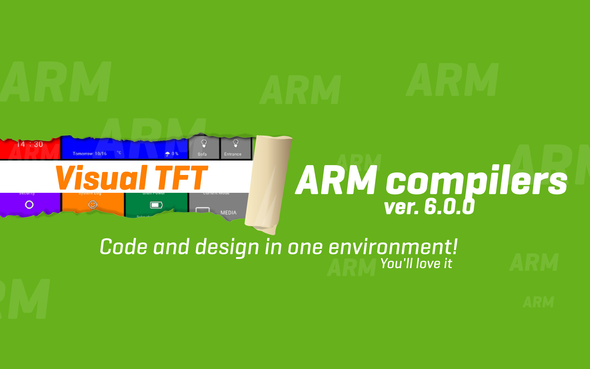 ARM compilers version 6.0.0 - design and compile in one environment