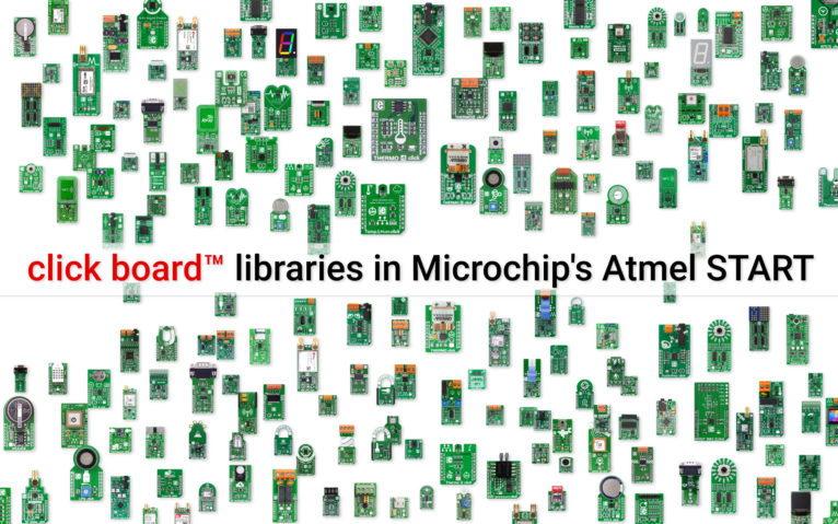 Microchip adds click board™ libraries in Atmel START