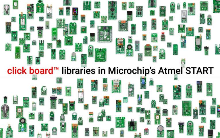 Microchip adds click board™ libraries in Atmel START